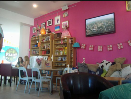 Flirt Cafe- a great place to have lunch and perfect for a toddler